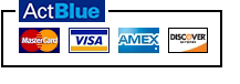 ActBlue and credit cards logos